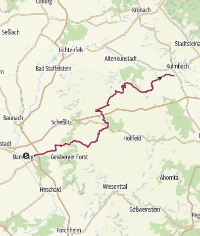 Karte / Von Bamberg nach Kulmbach