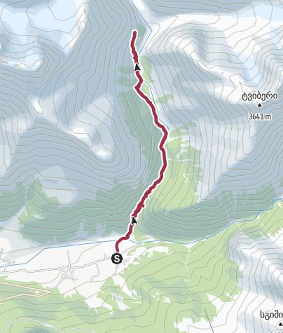Karte / Tviberi Glacier