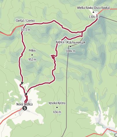 Map / Nova Sedlica - Kremenec - Wielka Rawka -Nova Sedlica
