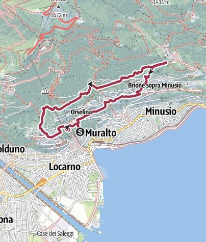 Karte / Sentiero Collina Alta Locarno