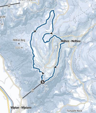 Karte / Winterwanderung Schlaneid - Bacherhof - St. Ulrich