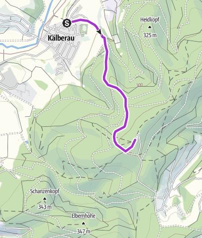 Karte / KälberauFriedhof-Hahnenkamm