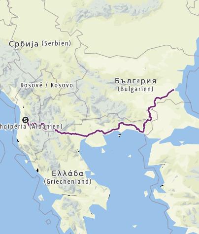 Map / Tirana  Burgas