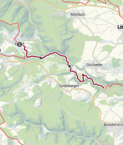 Karte / Querweg Freiburg - Bodensee: Kappel - Schattenmühle