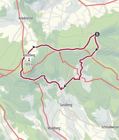 Karte / Zum Kreuzberg