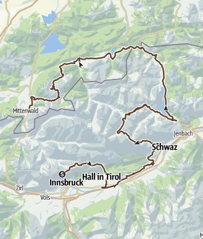 Cartina / TransKarwendelín2016