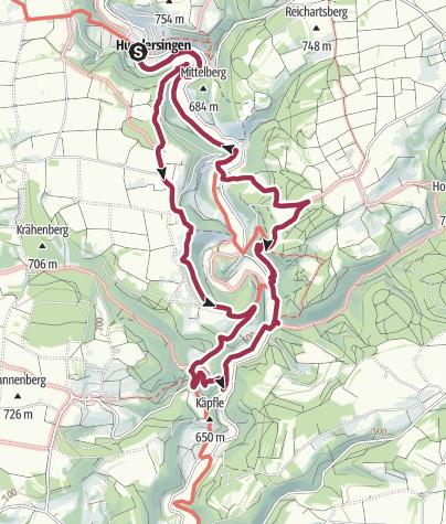 Karte / Von Hundersingen über Steighöfen, Derneck und Hohengundelfingen
