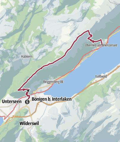 Karte / Hardergrat / Augustmatthorn (24.9.2017)