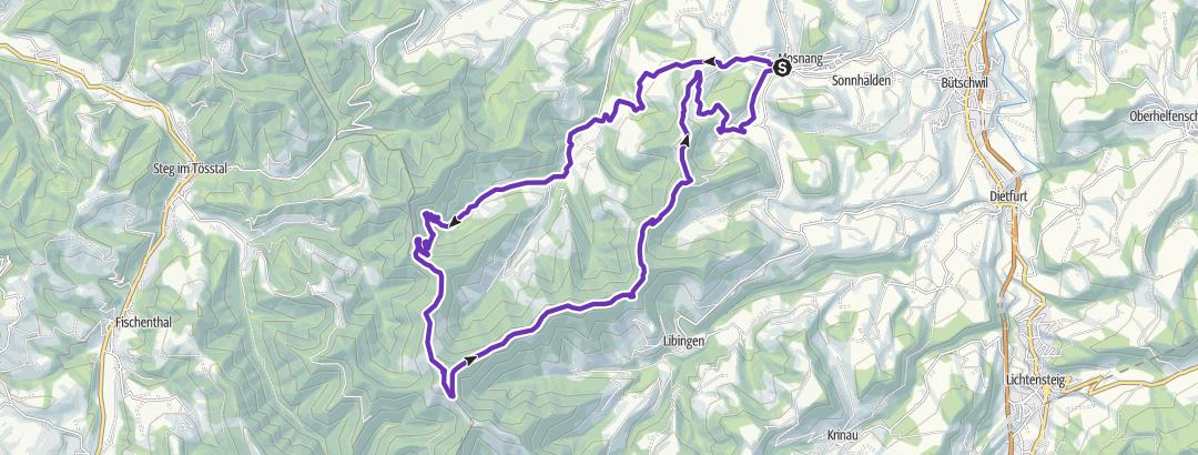 Mapa / Schebelhorn Panoramatrail (training)