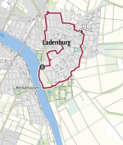 Map / Umrundung Ladenburg