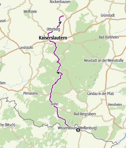 Map / Radtour Wissembourg - Winnweiler