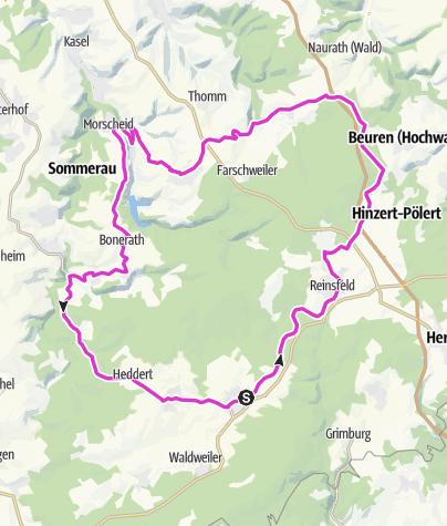 Karte / Rennradtour Hochwald