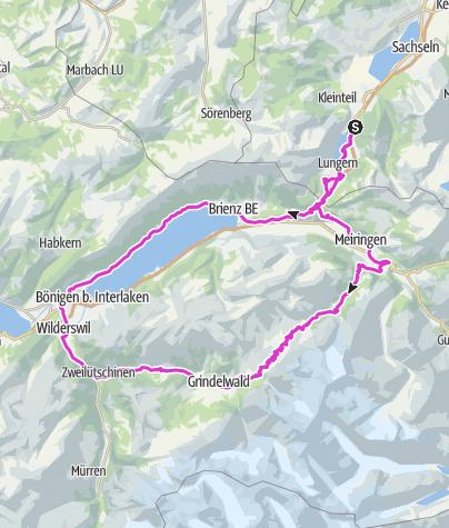 Map / Grosse Scheidegg Rundfahrt