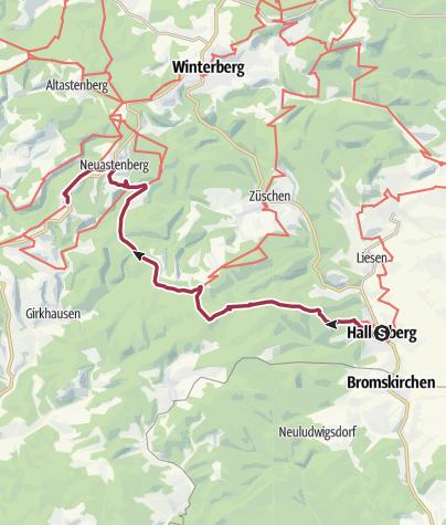 Karte / Sauerland - Gipfelglück - Etappe 3a