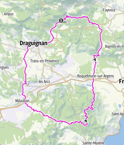 Karte / Callas-Seilans-Roquebrune-les Ricards-Vidauban-Les arcs-Callas