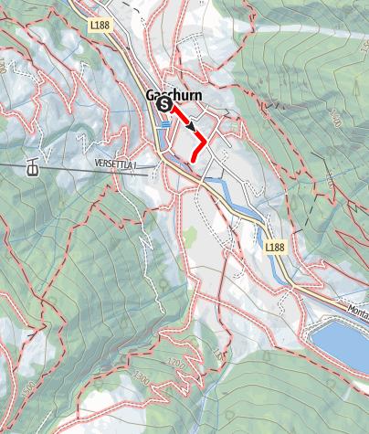 Karte / Gaschurn Dorf (Kulturhistorische Wanderwege Montafon 1)