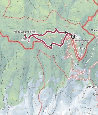 Karte / Osteria Irma (1080 m) - Punta di Mezzo (1227 m)