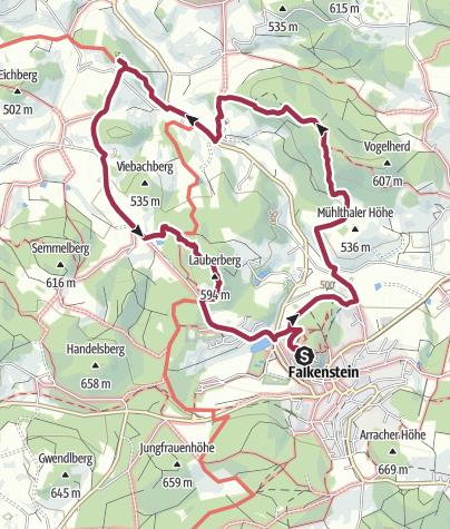 Karte / kleine Sonntagswanderung von Falkenstein nach Marienstein
