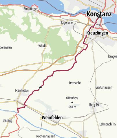 Map / Sur le Chemin de Compostelle 28.07.17