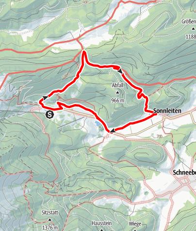 Karte / Tut Gut Wanderweg Puchberg am Schneeberg Route 1