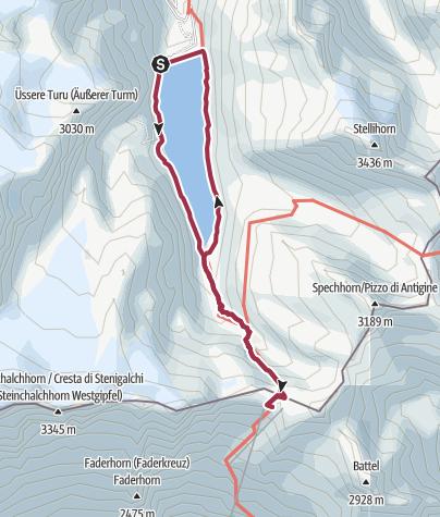 Karte / Monte Moro Pass