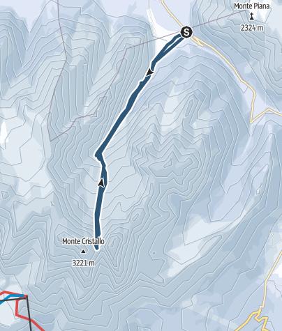 Karte / Cristallo Scharte (2808m)