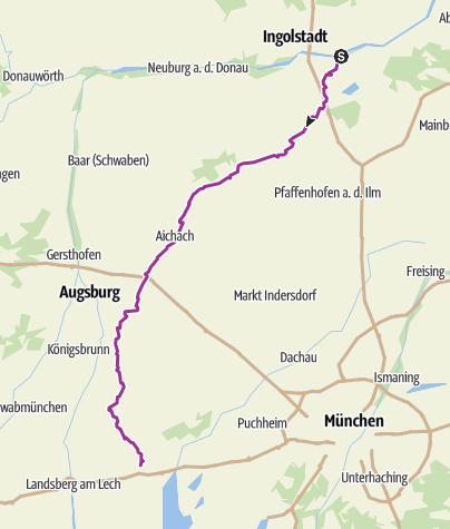 Karte / Paarradweg
