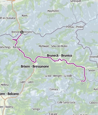 Map / Brennero - Val Cadore