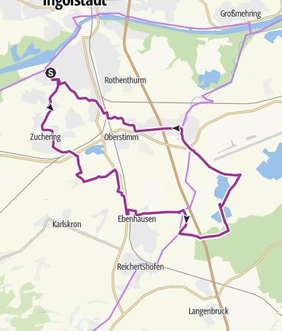 Karte / 19. September 2017 Radtour nach Manching