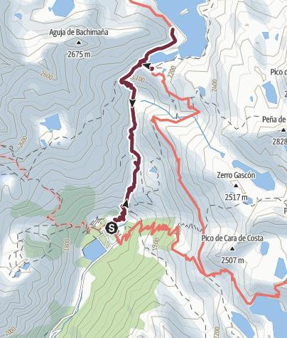 Cartina / Banos de Panticosa (1640 m) - Refugio de Bachimana (2178 m)