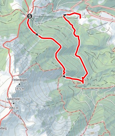 Karte / Tut Gut Wanderweg Puchberg am Schneeberg Route 2