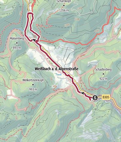 Karte / Durch das Weißbachtal