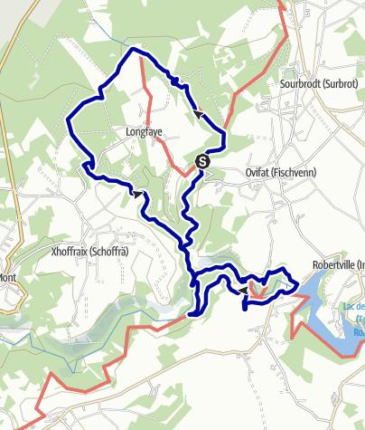 Karte / Hohes Venn – Wasserfall von Bayonne und Burg Reinhardstein