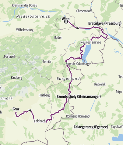 Karte / Tourenplanung für 2018 2. Septemberhälfte