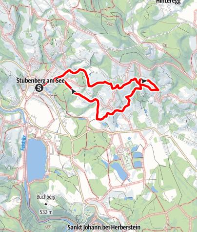 Karte / Buschenschankweg Kurze Strecke