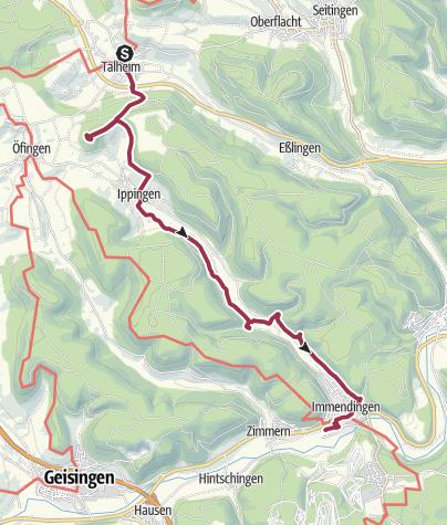 Karte / Talheim - Immendingen am 15.10.2017