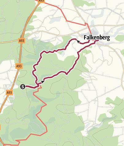 Map / Wanderung durchs wildromantische Waldnaabtal nach Falkenberg