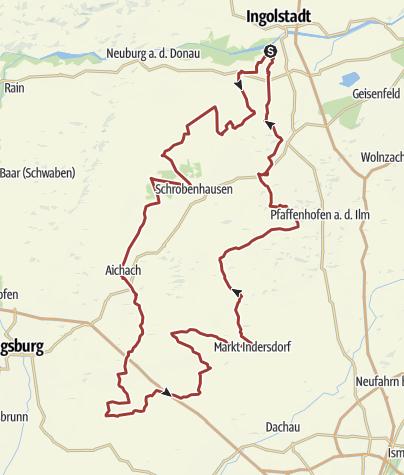 Karte /  5. Oktober 2017 Rollerausfahrt zum Weisswurstessen nach Baindlkirch