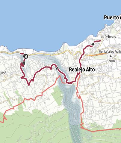 Karte / Tenerife, Barranco Ruiz, October 6, 2017