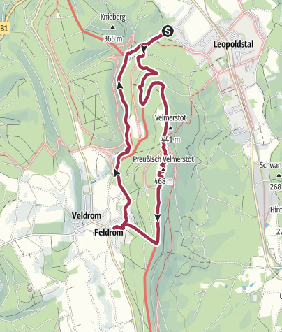 Karte / Leopoldstal - Velmerstot - Katenmühle - Silberbachtal
