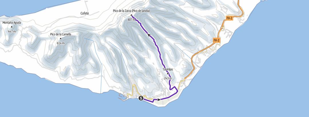 מפה / Pico de la Zarza - Morro Jable