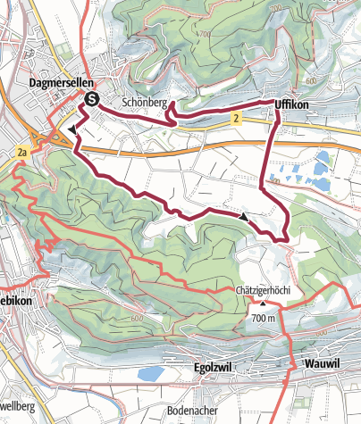Map / PW Dagmersellen LU, 10 km Strecke