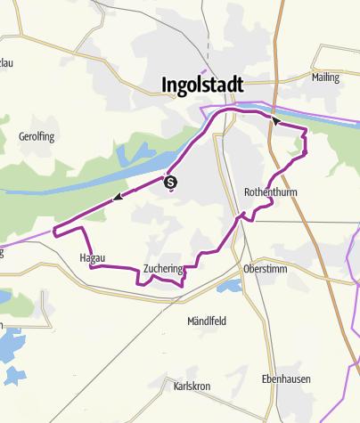 Karte / 10. Oktober 2017 Ingoradler Fahrradtour Rund um Ingolstadt