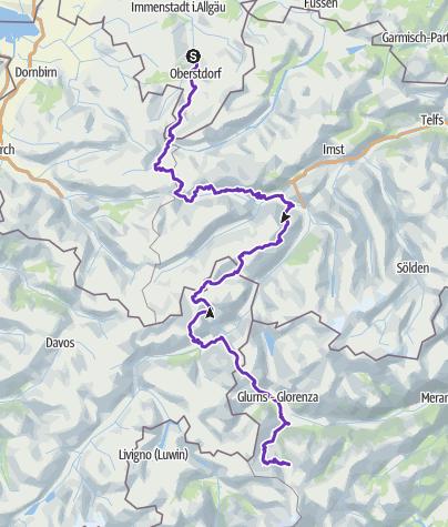 Karte / Transalpine Run