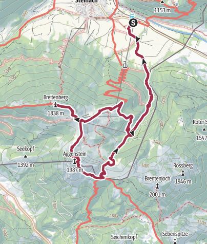 Karte / Pfronten-Steinach zur Ostlerhütte