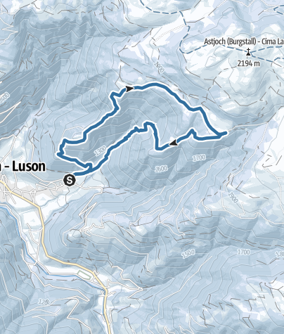 Map / Winter corcular hiking of the valley of Luson