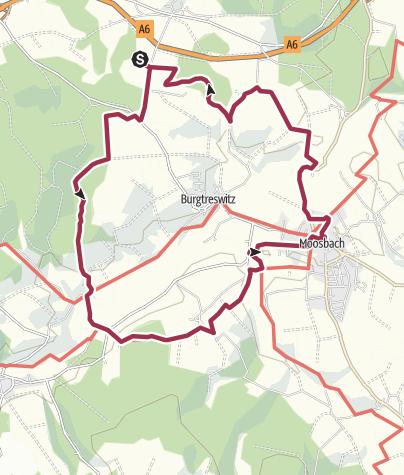 Map / Rundwanderung rund um Moosbach