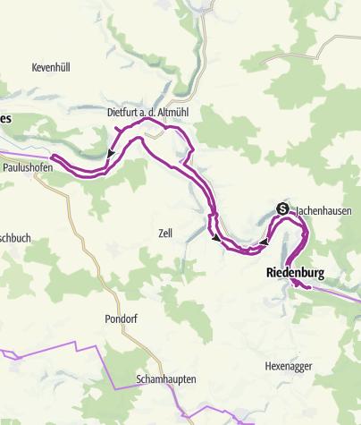 Karte / 12. Oktober 2017 Altmühltal Radtour Riedenburg - Dietfurt