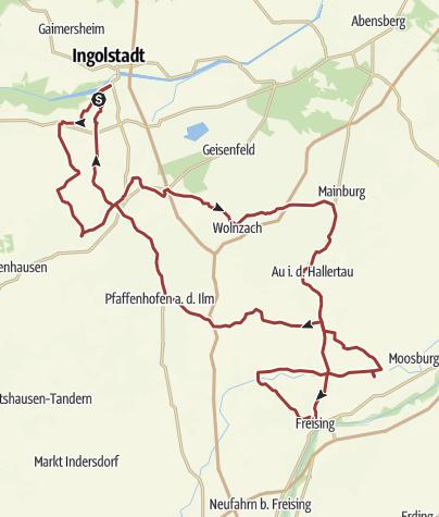 Karte / 14. Oktober 2017 Rollerausfahrt zum Kirchweih Mark nach Freising