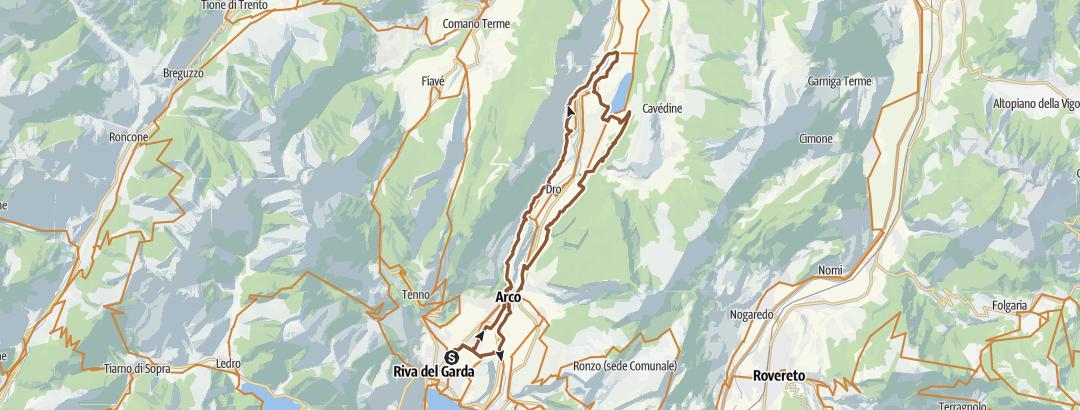 Mapa / Riva-Pietramurata-Cavedine-Arco-Riva